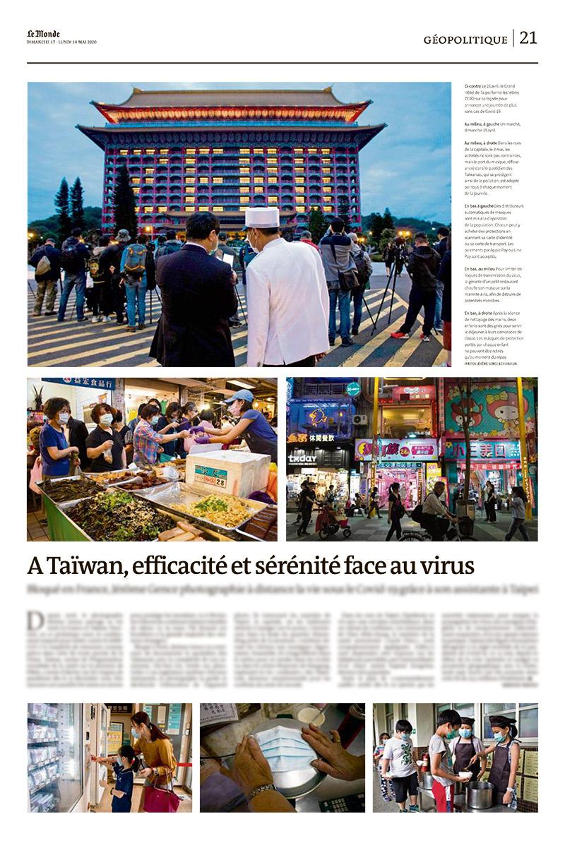 jerome gence le monde publication taiwan covid 19